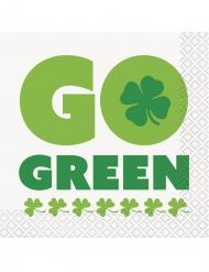 16 Guardanapos pequenos de papel Go green Dia de São Patrício