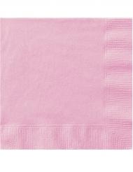 50 Guardanapos de papel cor-de-rosa