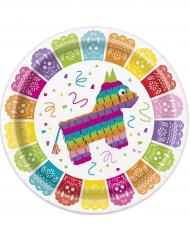 8 Pratos Fiesta Maxicana de cartão 23 cm