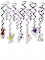 12 decorações a suspender fadas