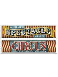 2 Bandeirolas Circo Vintage 38 cm x 1.5 m