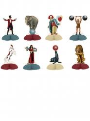 8 mini centros de mesa tema circo vintage 12,7 cm