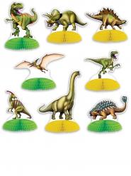 8 Mini centros de mesa Dinossauros