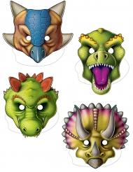 4 Máscaras de dinossauros em cartão