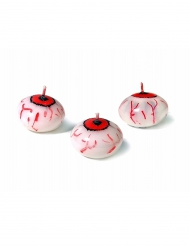 Vela flutuante olho sangrento Halloween 4 cm