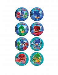 16 mini discos em açúcar PJ Masks™ 3,4 cm