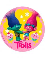 Disco ázimo aniversário Trolls™ 20 cm
