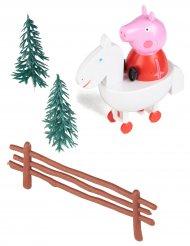 Kit de decoração para bolo Peppa Pig™ 9 cm