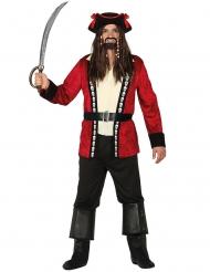 Disfarce capitão pirata caveira homem