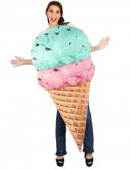 Disfarce gelado em corneto adulto