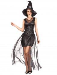 Disfarce bruxa preta chique mulher