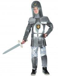 Disfarce de cavaleiro com armadura menino