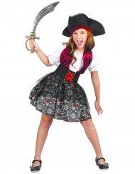 Disfarce pirata caveira menina