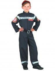 Disfarce de bombeiro menino