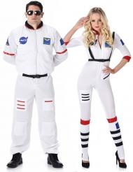 Disfarce de casal astronautas adultos