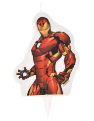 Vela de aniversário Avengers™ Iron Man™ 6 x 7.3 cm