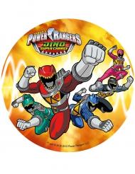 Disco cor de laranja ázimo Power Rangers™ 21 cm