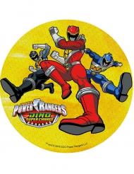 Disco amarelo ázimo Power Rangers™ 21 cm