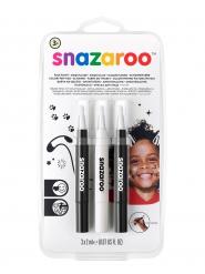 Pack de canetas pincéis Snazaroo™ preto e branco criança