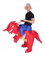Disfarce dragão insuflável adulto