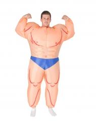 Disfarce insuflável homem musculoso adulto