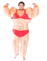Disfarce insuflável mulher musculosa adulto