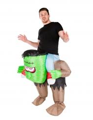 Disfarce monstro verde insuflável adulto