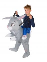Disfarce coelho insuflável criança