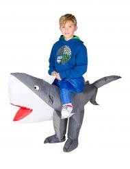 Disfarce tubarão insuflável criança