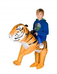 Disfarce tigre insuflável criança