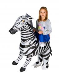 Disfarce zebra insuflável criança