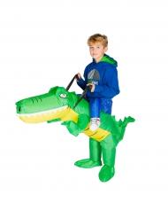 Disfarce crocodilo insuflável criança