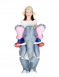 Disfarce elefante insuflável criança