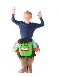Disfarce monstro verde insuflável criança