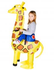 Disfarce girafa insuflável criança