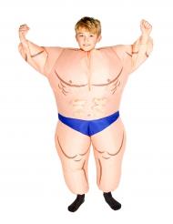 Disfarce menino musculoso insuflável criança