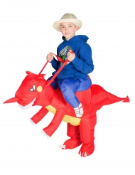 Disfarce dragão insuflável criança