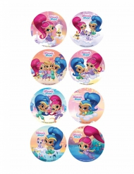 18 Mini discos de açúcar Shimmer and Shine™ 3.4 cm