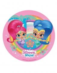 Disco ázimo Shimmer & Shine™ 20 cm cor-de-rosa