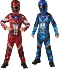 Pack Disfarces Power Rangers™ vermelho e azul criança