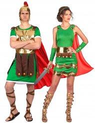 Disfarce de casal Soldados romanos adultos
