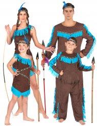 Disfarce de família índios
