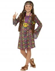Disfarce hippie peace flower menina