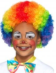 Peruca palhaço colorida criança
