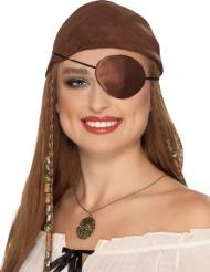 Tapa-olho pirata castanho adulto