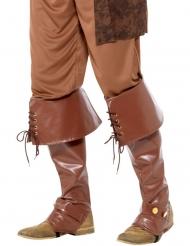Cobre-botas castanhos luxo adulto