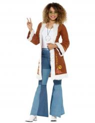 Casaco hippie com pelos mulher