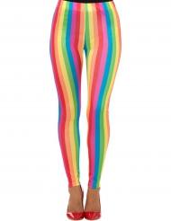 Legging arco-íris mulher
