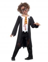 Disfarce aluno zombie criança