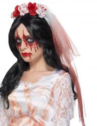 véu de noiva com manchas de sangue adulto